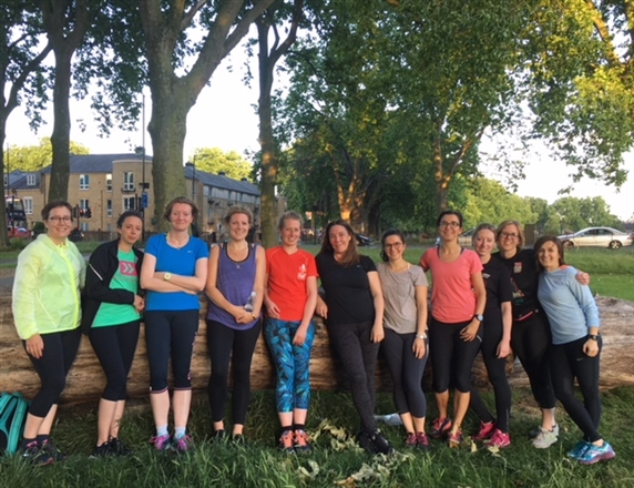 Meet us at the table inside The Elderfield Pub, E5 0LF - Hackney Marshes Ladies Running Group