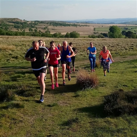 Longshaw Moorland Discovery Centre by top car park - Longshaw TrYumphs - Interval training