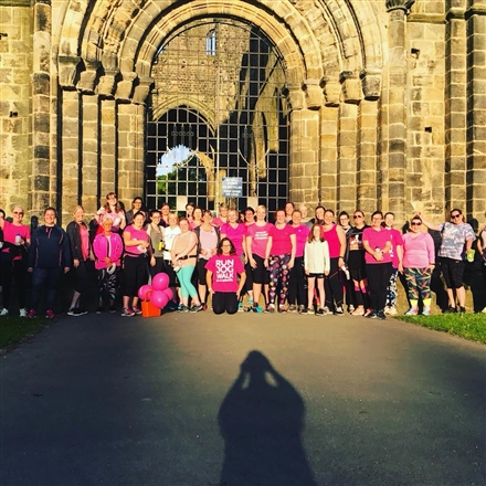 Outside the Abbey Ruins - LeedsGirlsCan Couch to 5k - Kirkstall Abbey